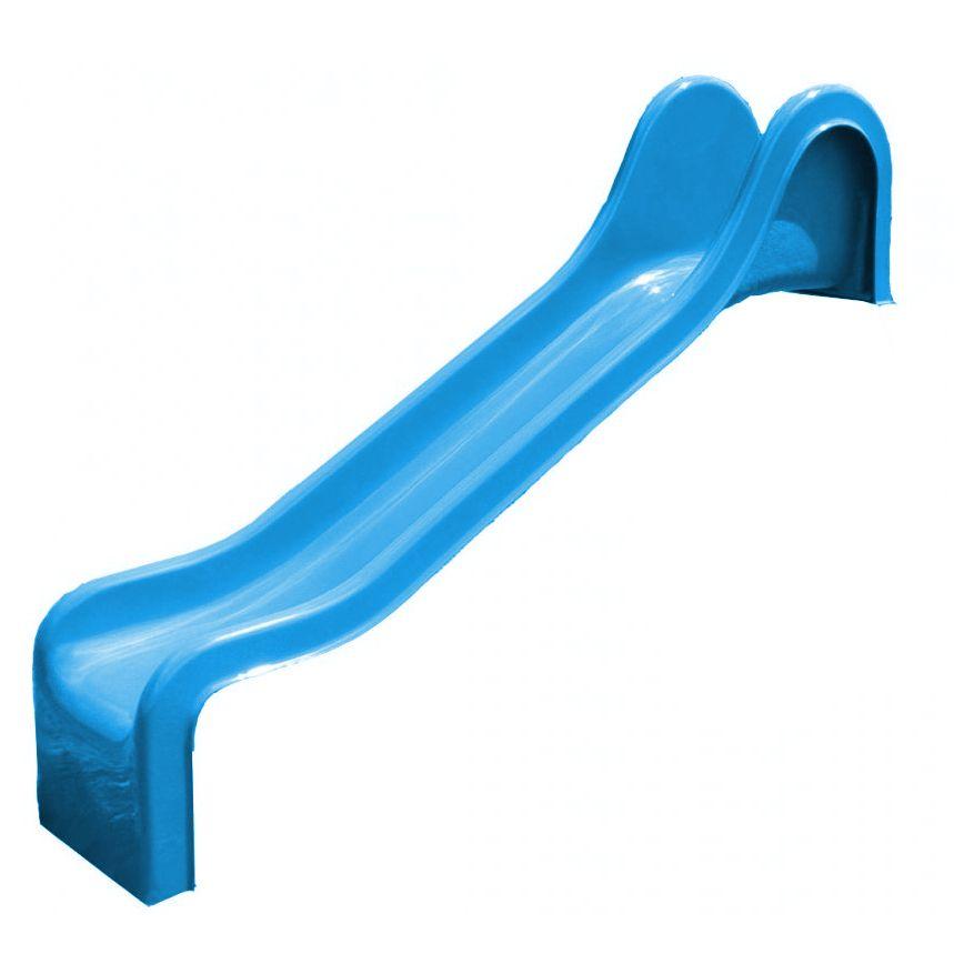 Detská šmýkačka modrá R230 rovná (Sklolaminátová šmýkačka s)