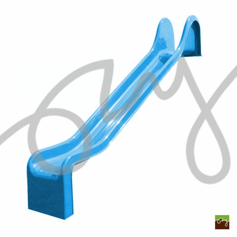 Detská šmýkačka modrá R312 rovná (Sklolaminátová šmýkačka s)