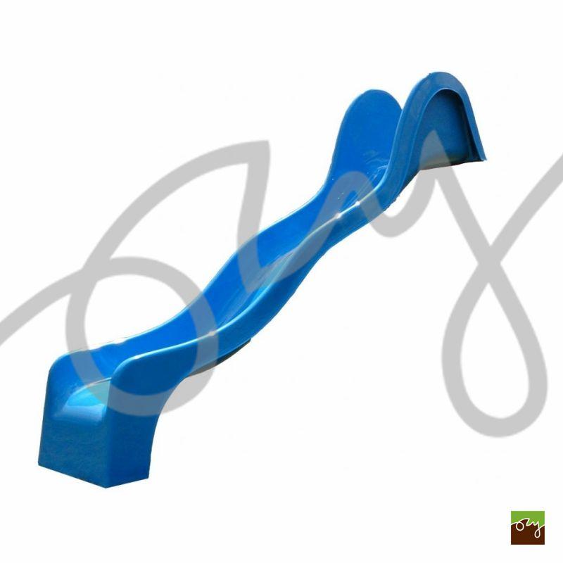 Detská šmýkačka modrá V316 vlnitá (Sklolaminátová šmýkačka s)