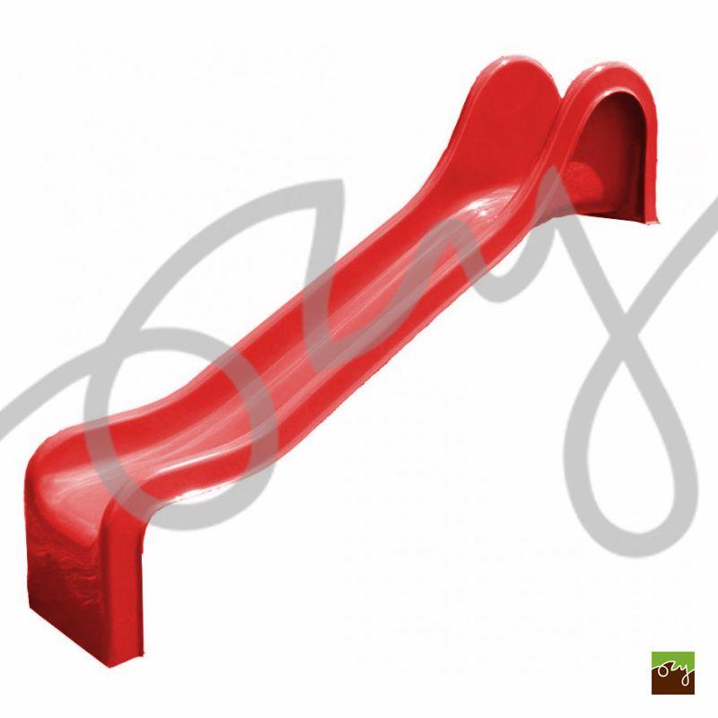 Detská šmýkačka červená R230 rovná (Sklolaminátová šmýkačka s)