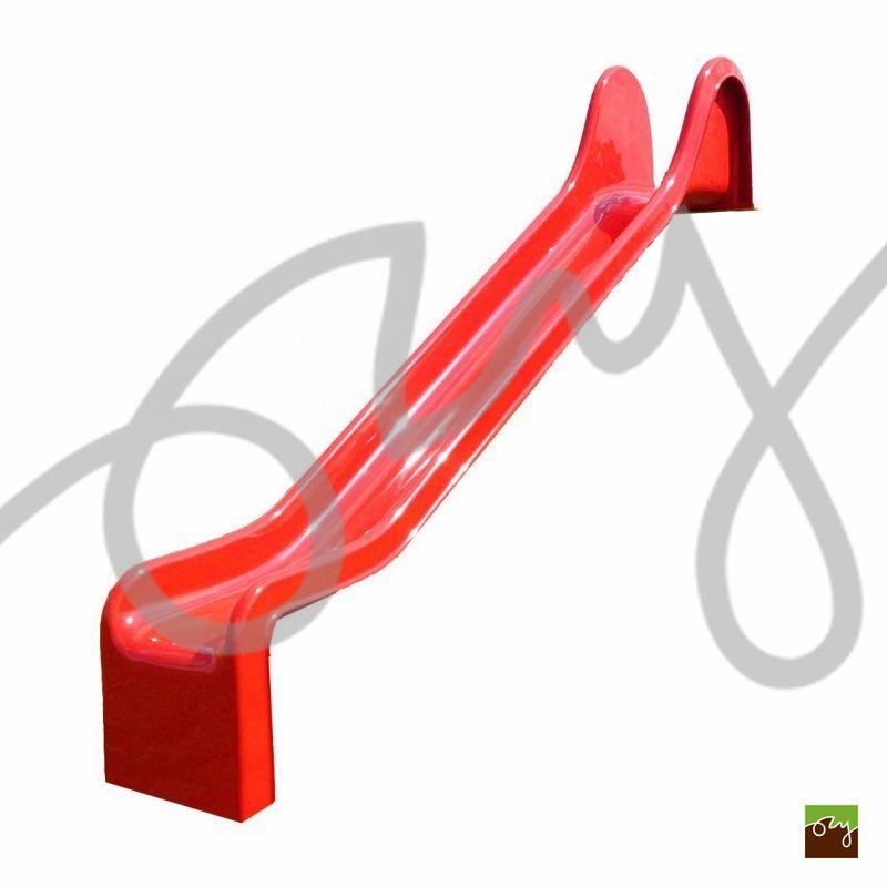 Detská šmýkačka červená R312 rovná (Sklolaminátová šmýkačka s)